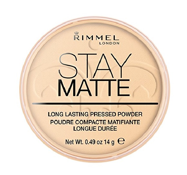Rimmel London Stay Matte Long Lasting Pressed Powder, Transparent [001] 0.49 oz