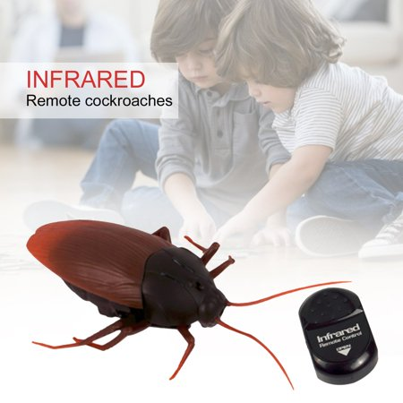 Battery Powered Funny Plastic Simulation Scary Creepy Cockroach Infrared Remote Control Toys Scary Children Toys - Funny And Creepy