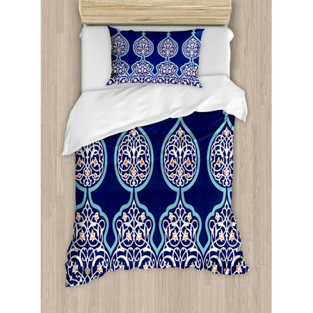 Ambesonne Moroccan Bohemian Style Duvet Cover Set ()