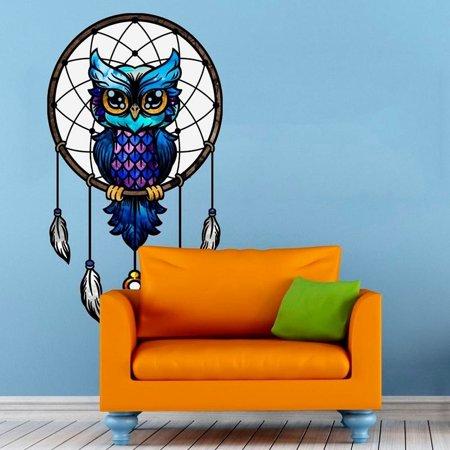stickalz llc dreamcatcher owl full color wall decal sticker k-791