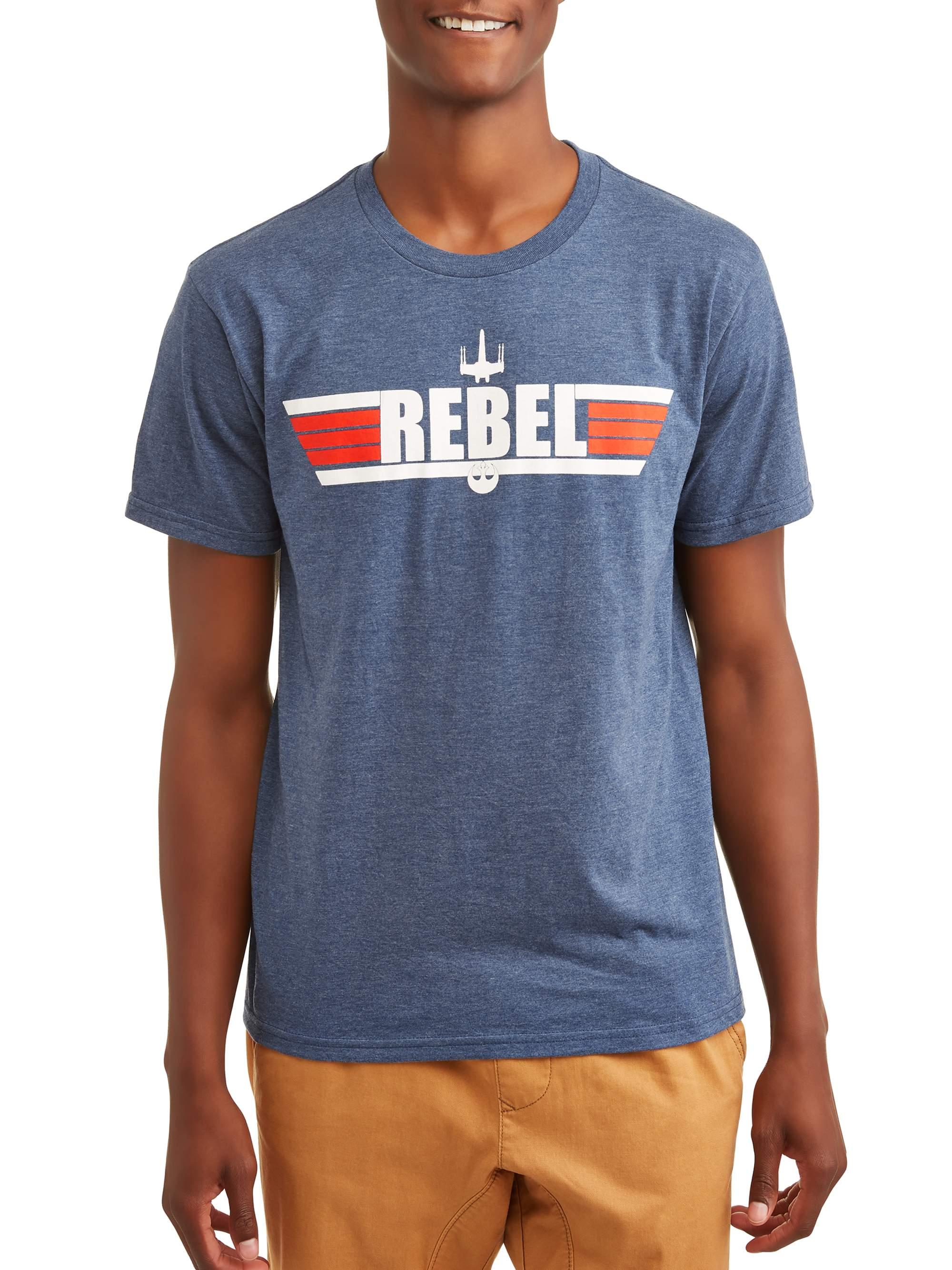 "Star Wars Men's ""Maverick Rebel"" Short Sleeve Graphic T-Shirt, up to 2XL"