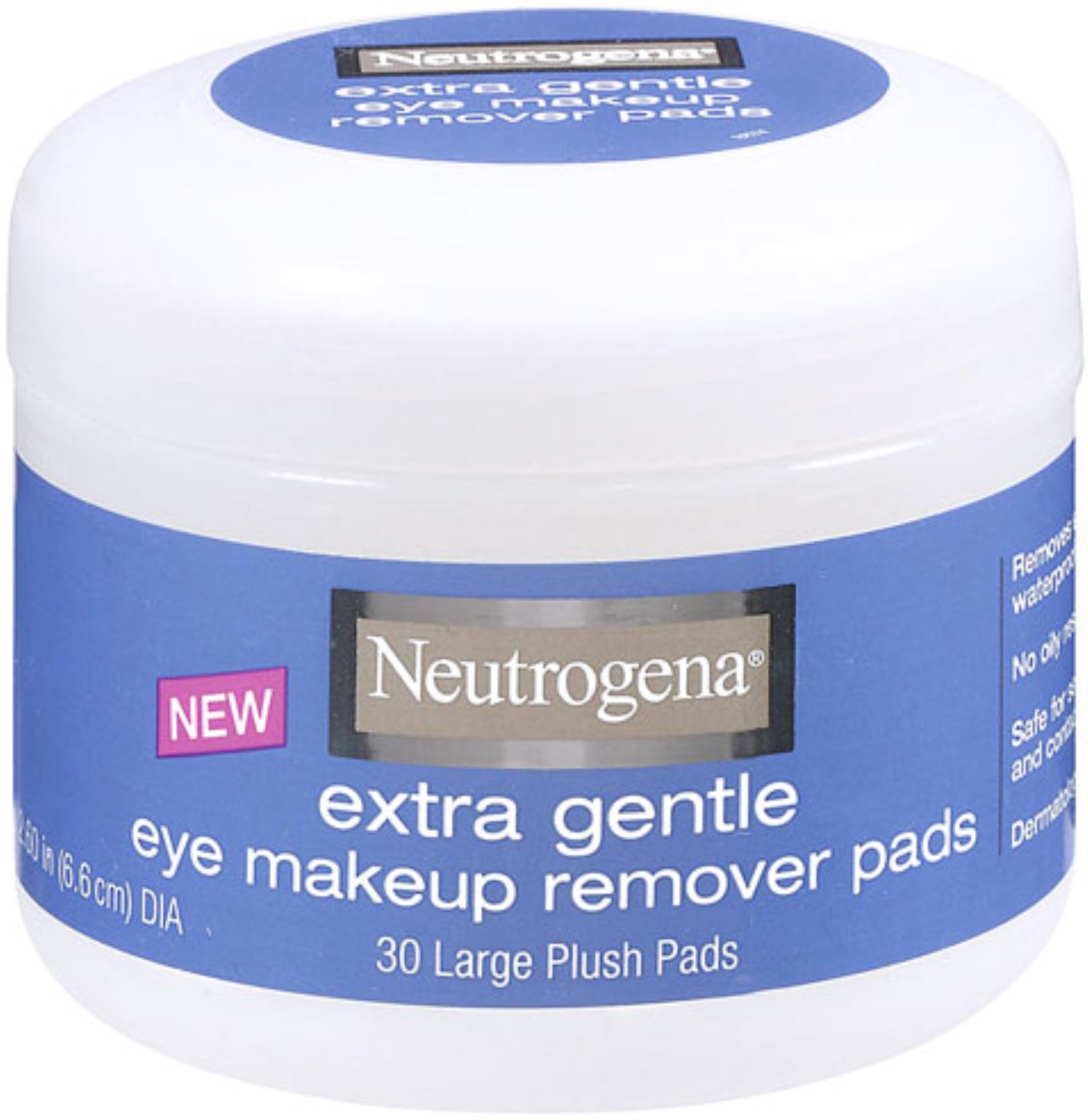 Neutrogena Extra Gentle Eye Makeup Remover Pads 30 ea (Pack of 3)