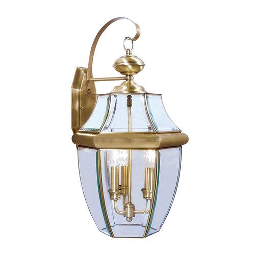Livex Lighting  2351  Wall Sconces  Monterey  Outdoor Lighting  Outdoor Wall Sconces  ;Antique Brass
