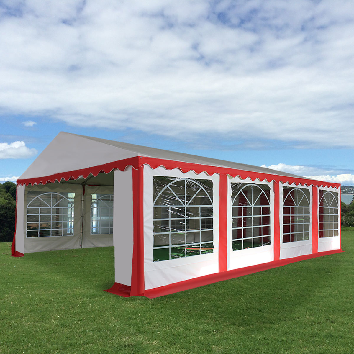 Costway 16 2 5'X26' Tent Shelter Heavy Duty Outdoor Party Wedding Canopy Carport Red by Costway
