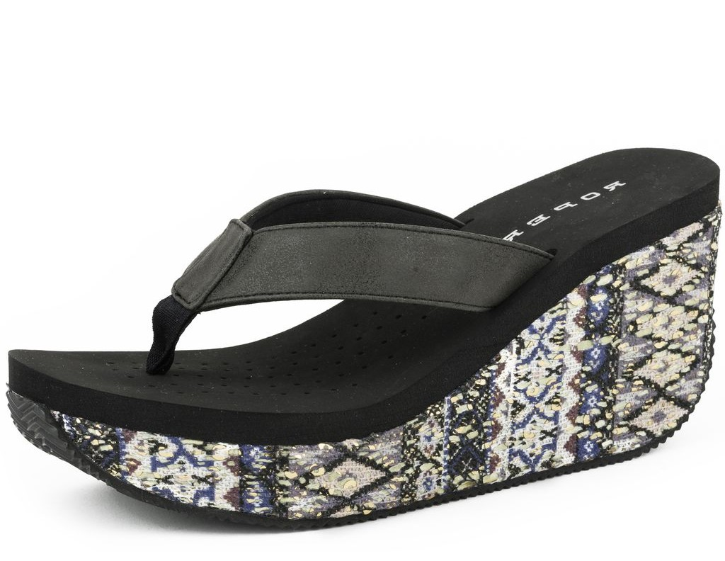 Roper Western Shoes Womens Aztec 3 Inch Wedge 09-021-0607-1157 BL