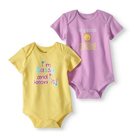 51031f2676b316 Attitude Baby Girl Short Sleeve Bodysuits