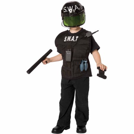 S.W.A.T. Officer Child Halloween Costume - Black Dress Halloween Costume Diy