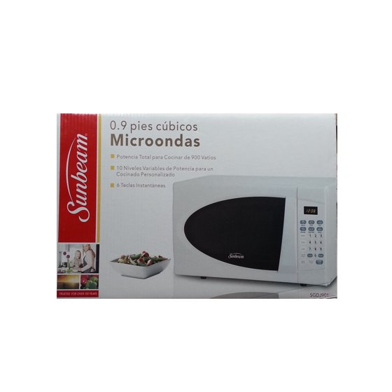 Sunbeam 0 9 Cu Ft Microwave White