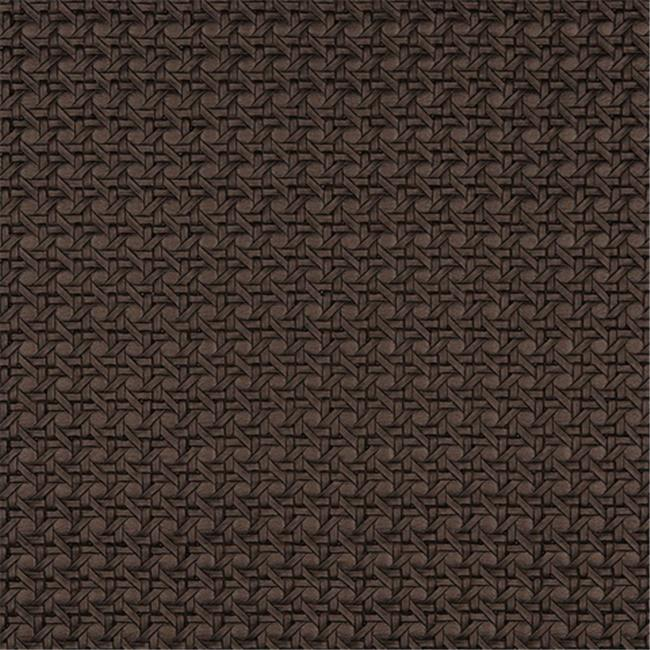 Designer Fabrics G674 54 in. Wide Brown, Metallic Cross Hatch Upholstery Faux Leather