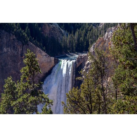 Framed Art for Your Wall Lower Falls Yellowstone National Park Waterfall 10x13 Frame