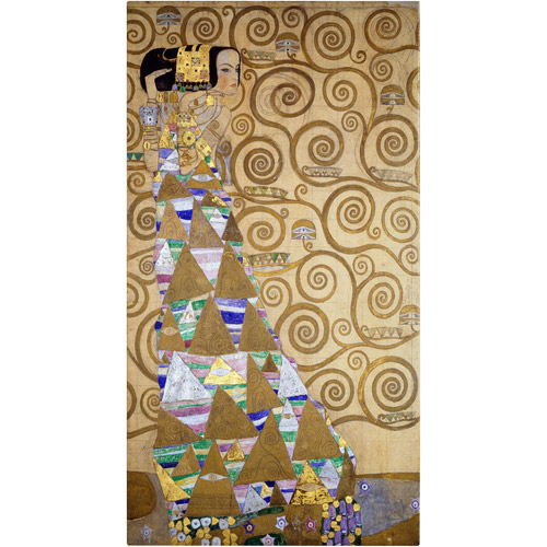 "Trademark Fine Art ""Expectation"" 1905-09 Canvas Art by Gustav Klimt"