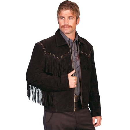 Men's Scully Boar Suede Fringe Jacket - Embroidered Fringe Jacket
