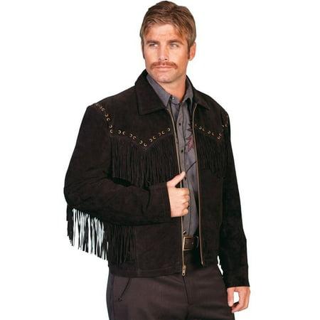 Men's Scully Boar Suede Fringe Jacket 221 (Boar Suede Leather Coat)