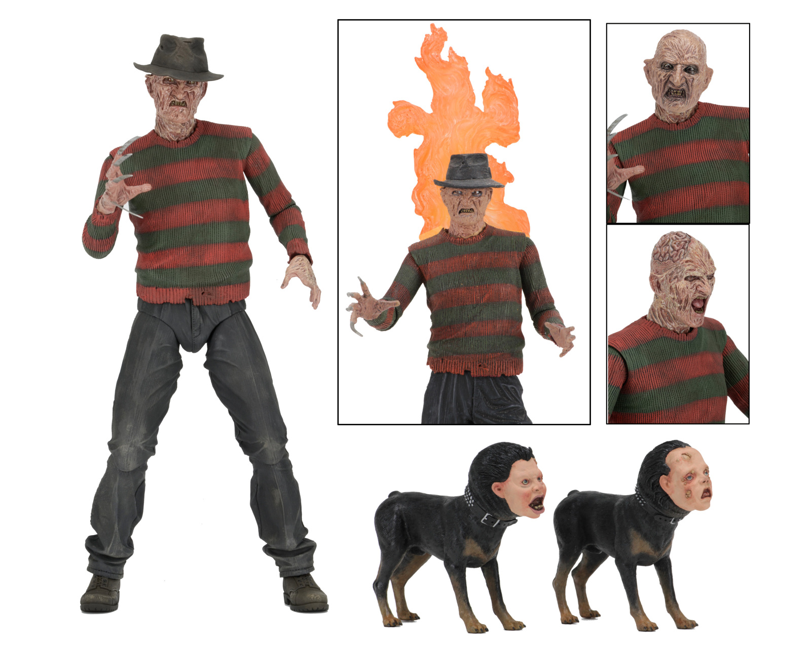 """Nightmare on Elm Street 7"""" Scale Action Figure Ultimate Part 2 Freddy by"""