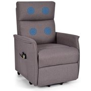 Topbuy Electric Power Lift Massage Chair Soft Fabric Sofa Recliner Padded Seat w/Remote