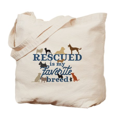 - CafePress - Rescued Is My Favorite Breed - Natural Canvas Tote Bag, Cloth Shopping Bag