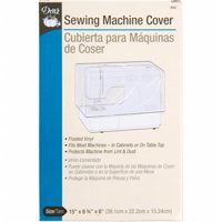 "Dritz Sewing Machine Cover, 15"" x 8-3/4"" x 6"", Frosted Vinyl"