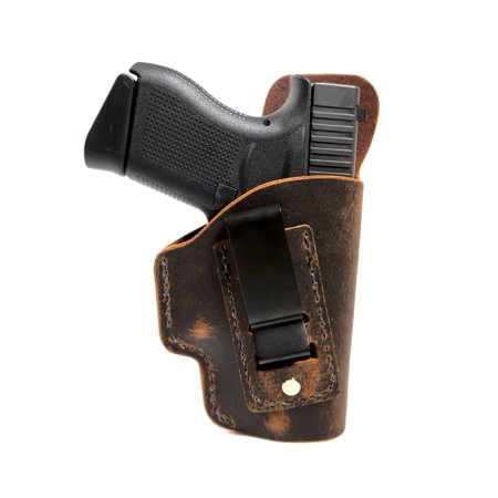 Soft Leather Inside the Waistband Holster for a Kimber Micro 380 - Handcrafted in the USA using Natural Water Buffalo Leather - Lifetime Warranty - Designed for Concealed