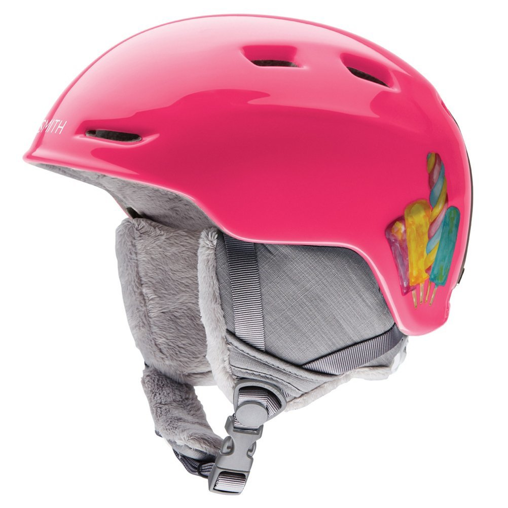 Smith Optics Zoom Jr Ski Snow Helmet (Pink Popsicles Youth Medium) by Smith Optics