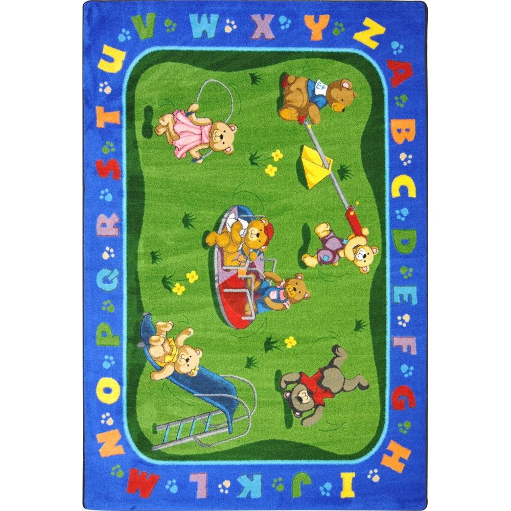 "Kid Essentials - Early Childhood Teddy Bear Playground, 3'10"" x 5'4"", Multicolored"