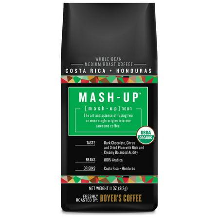 Mash-Up Costa Rica + Honduras Blend Whole Bean Coffee, Medium Roast, 11 oz