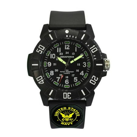 - Aquaforce 23C Rotating Bezel Super Luminous Hands Analog Watch with 50m Water Resistant