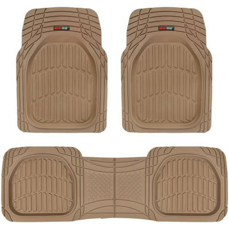 Motor Trend FlexTough Car Floor Mats Contour Liners - Heavy Duty Deep Dish Rubber Mats for Car & SUV,