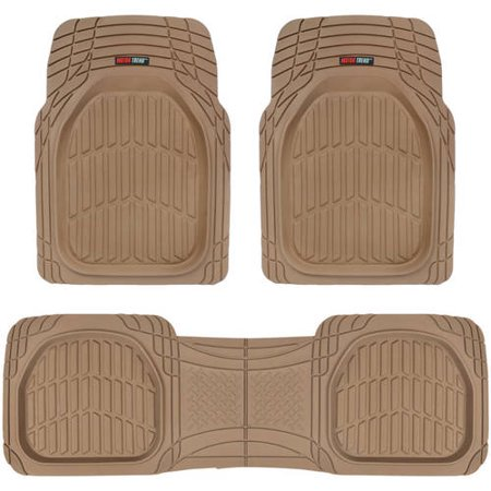 Motor Trend FlexTough Car Floor Mats Contour Liners - Heavy Duty Deep Dish Rubber Mats for Car & SUV, (Odorless) (Floor Mats Center Hump Liner)