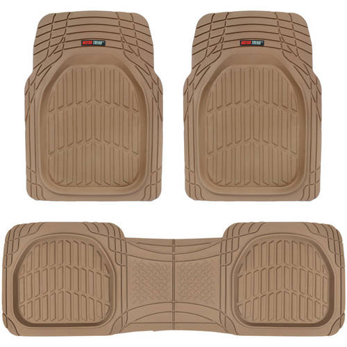 Motor Trend FlexTough Car Floor Mats Contour Liners - Heavy Duty Deep Dish Rubber Mats for Car & SUV, (Odorless)