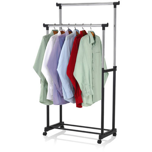 sunbeam double hanging garment rack with wheels