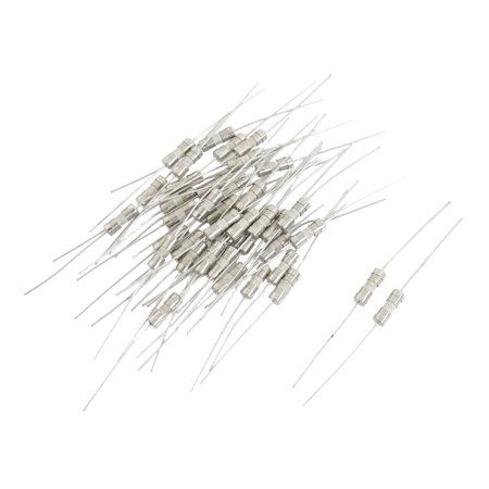 40 Pieces 4mm Diameter Fast Blow Ceramic Fuse 125V 5A