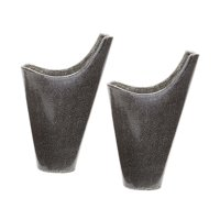 Dimond Home Gray Reaction Filled Vase - Set of 2