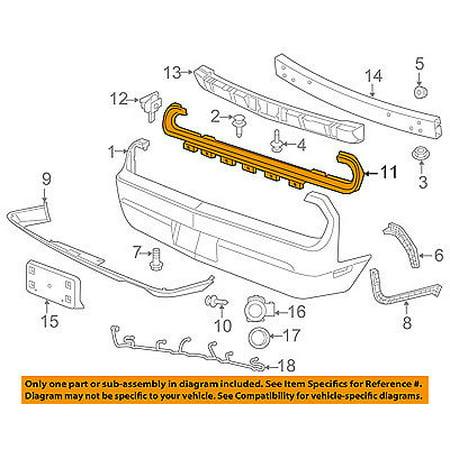 Rear Wing Bracket - Dodge CHRYSLER OEM 08-16 Challenger Rear Bumper-Outer Bracket 68039502AA