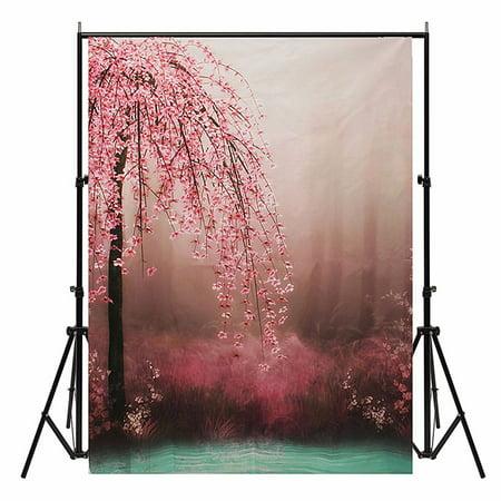 Wedding Background Photo Props Flower Romantic Photography Backdrops Vinyl 5x7FT