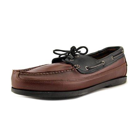 851da117e72 Life Outdoors - Life Outdoors 2-Eye Deck Men 5E Moc Toe Leather Brown Boat  Shoe - Walmart.com