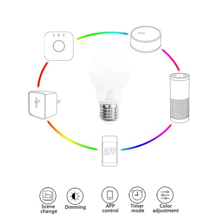 the latest a5c82 7a33a GLEDOPTO ZIGBEE ZLL 3.0 LED 6W Bulb RGB+CCT ww/cw LED Smartphone APP  Control AC100-240V E27 Bulb Intelligent Light Link Compatible