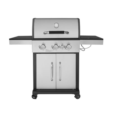 Royal Gourmet GG3302S 3-Burner Propane Gas Grill with Side Burner, Stainless Steel