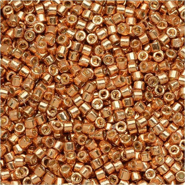 Miyuki Delica Seed Beads, 11/0 Size, 50 Gram Bulk Bag, Duracoat Galvanized Muscat DB1836