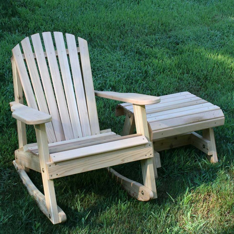 Creekvine Designs American Forest Cedar 2-Piece Adirondack Rocker & Side Table Set