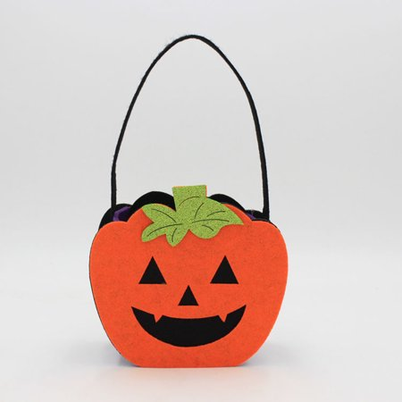 Halloween Costume Felt Creative Non-Woven Ghost Pumpkin Skull Tote Bag Decorations Props - Creative Halloween Date Ideas
