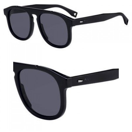 sunglasses fendi men ff m 14 /s 0807 black / ir gray blue lens