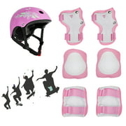 Kids Protective Gear Set - 7PCS Outdoor Sport Skating Cycling Knee Pads Elbow Pads Wrist Guards Safety Pads and Youth Skateboard Helmet For Girls/Boys Adjustable Child Cycling Helmet