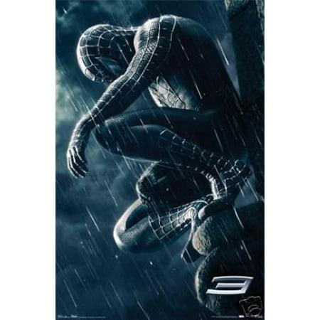 Rainman Poster - Spiderman 3 Movie Poster Spider Man Dark Rain New 24x36
