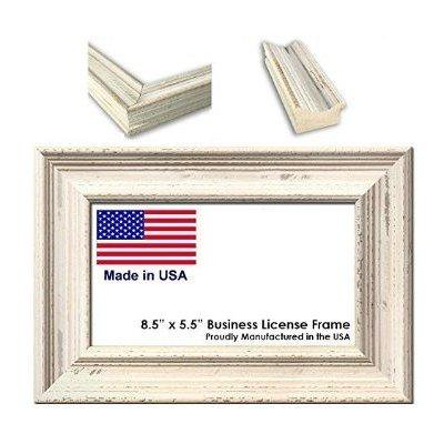 8.5 x 5.5 inch professional business license frame - weathered white ...