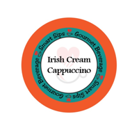 Smart Sips Coffee Irish Cream Cappuccino Single Serve Cups, 72 Count, Compatible With All Keurig K-cup Machines