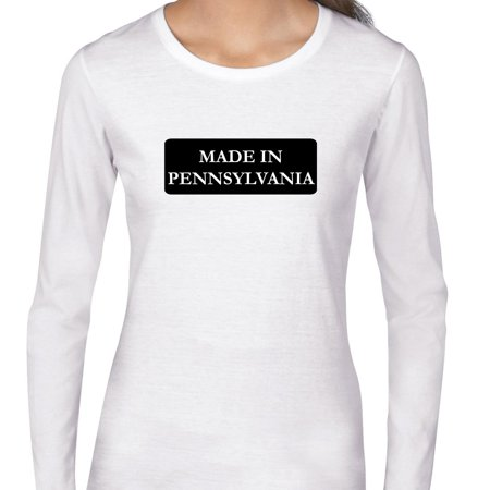 Hip Made In Pennsylvania State Pride Womens Long Sleeve T Shirt