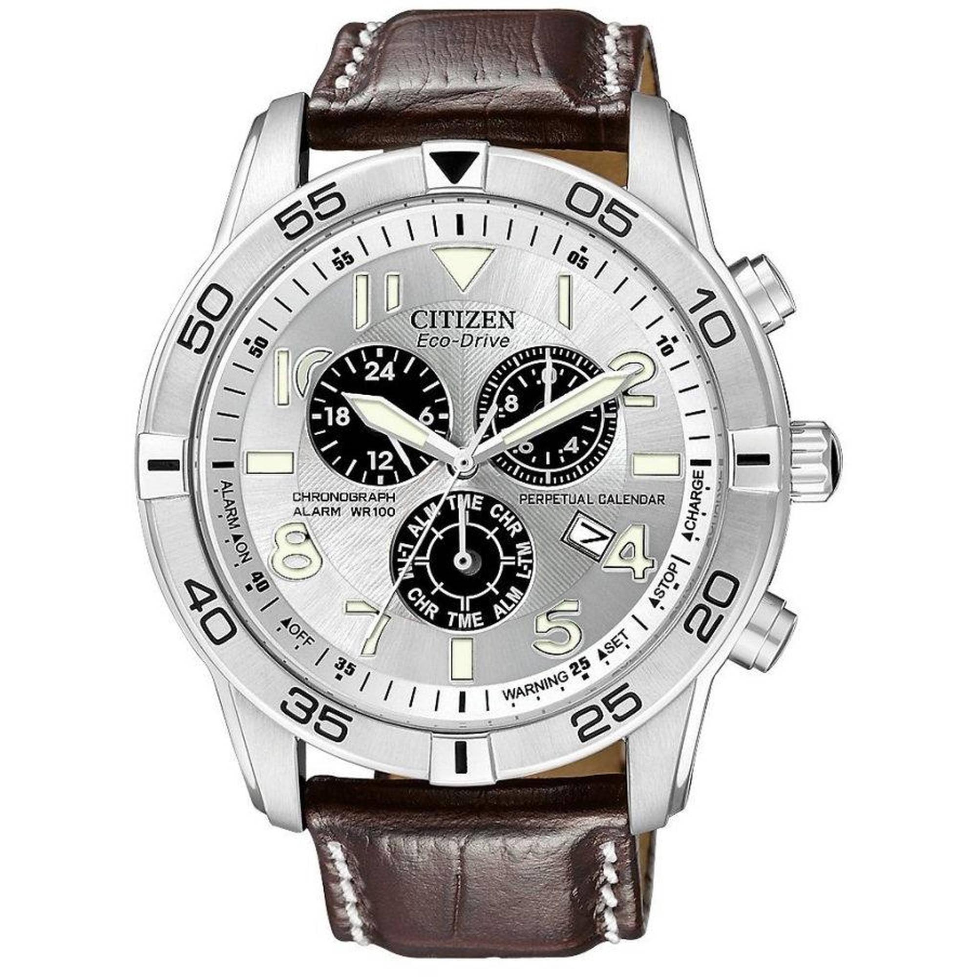 dbcc124941c CITIZEN - Citizen Eco-Drive Alarm Chronograph Perpetual Mens Watch  BL5470-06A - Walmart.com