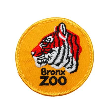 New York City Bronx Zoo Travel Patch Tiger Logo Park Souvenir Iron-On Applique