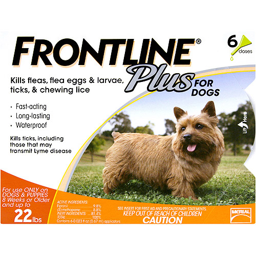 Frontline Plus Flea, Tick And Lice Control For Dogs And Puppies 8 Weeks Or Older, 6 Month Supply