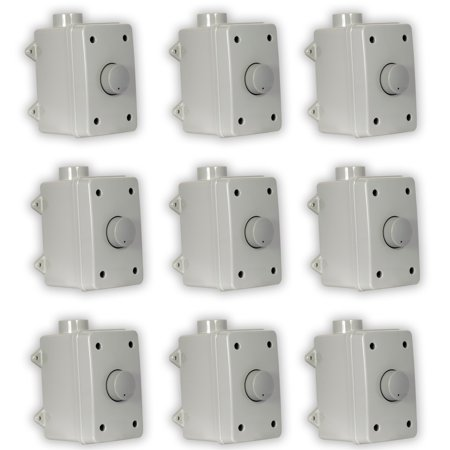 (Theater Solutions OVCDG Outdoor Volume Controls Gray Weatherproof Dial 9 Control Set)